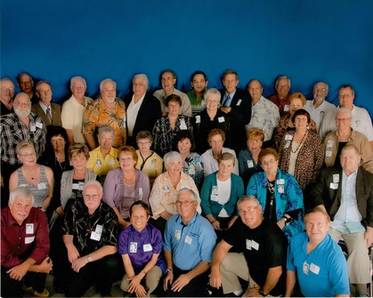 The whole group at the 50 year reunion