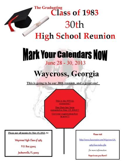 Waycross High School Class Of 1983 Waycross Ga