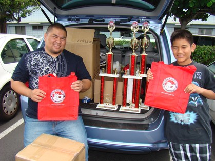 FHSAA Scholarship Trophies & Recycled Bags Earth Day Everyday Mission