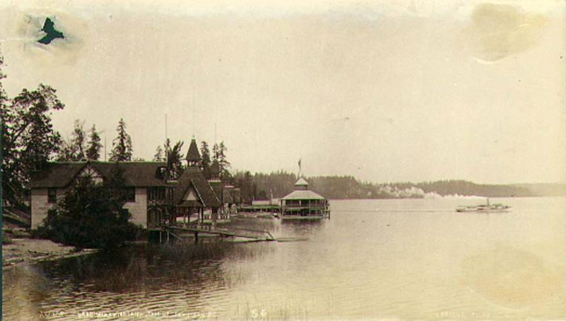 Madison Park on Lake Washington 1892