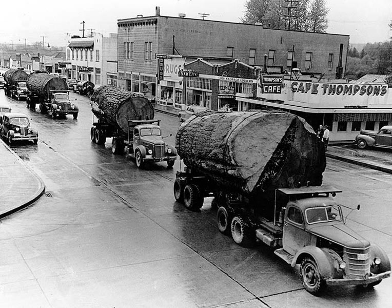 1947 Log Parade Bothell