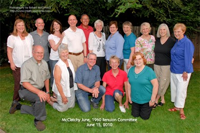 McClatchy June, 1960 50th Reunion Committee